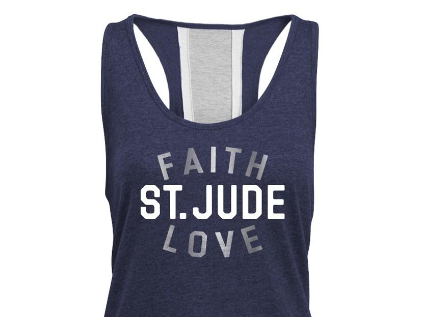 St. Jude Faith and Love Racerback Tank