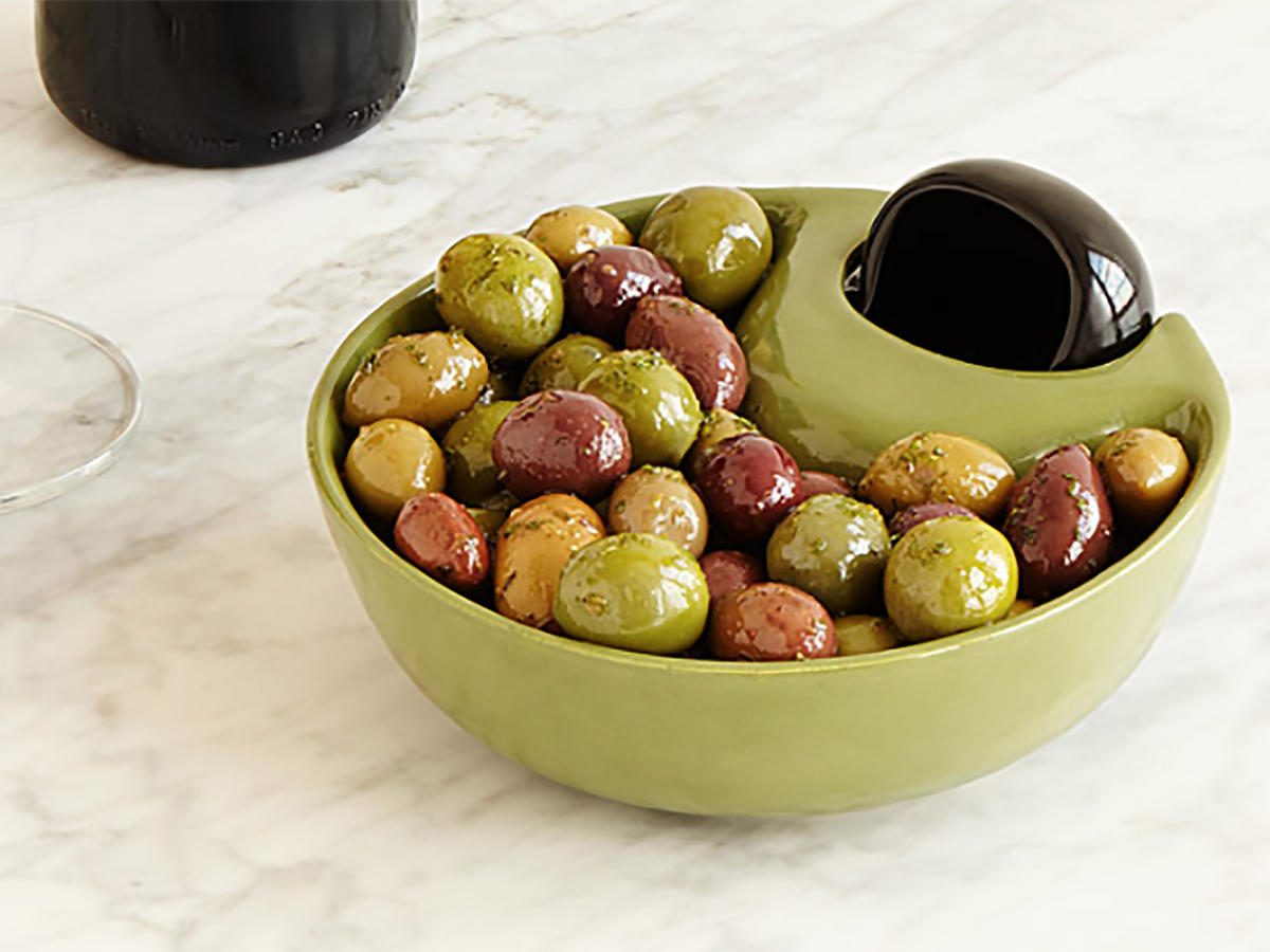 Uncommon Goods Olive Server and Pit Bowl