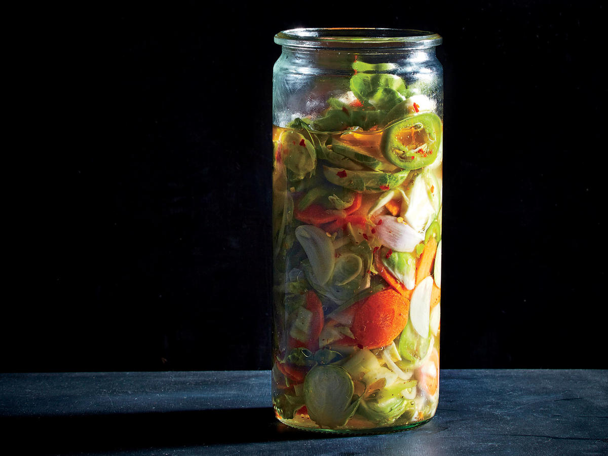 Brussels Sprouts Giardiniera