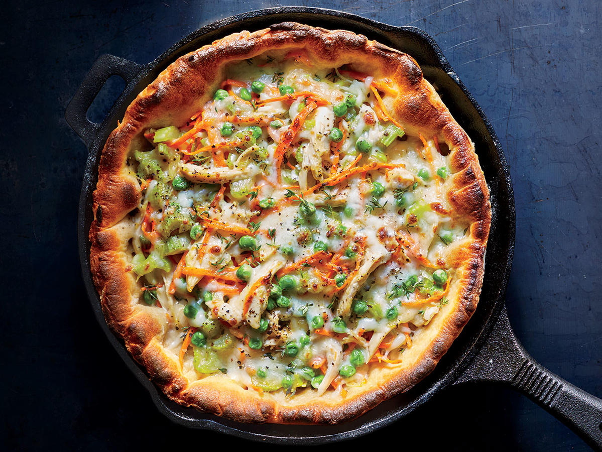 Chicken Potpie Skillet Pizza