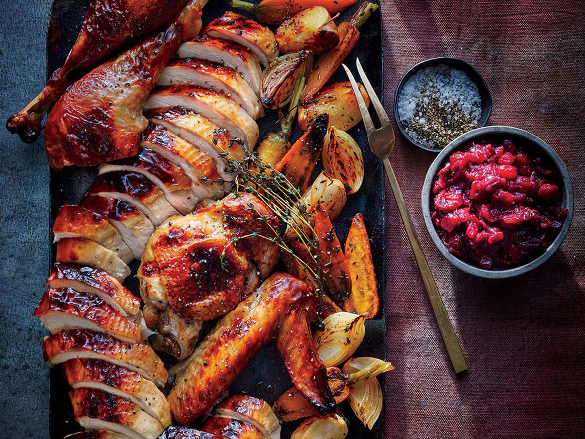 Cider-Glazed Turkey With Roasted Apples