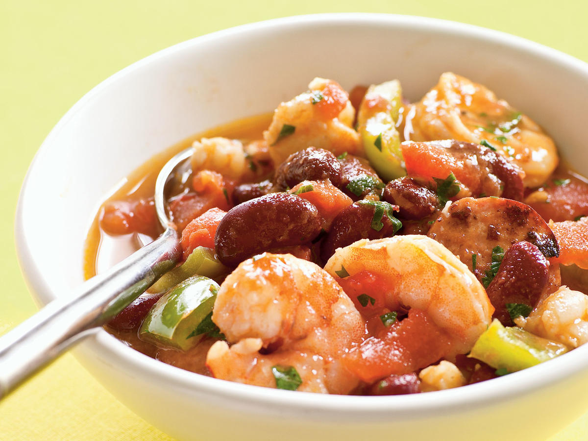 Healthy Creole Shrimp and Sausage Stew Recipe