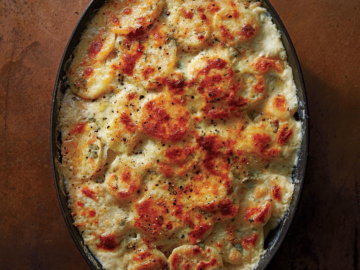 Potato and Parsnip Gratin