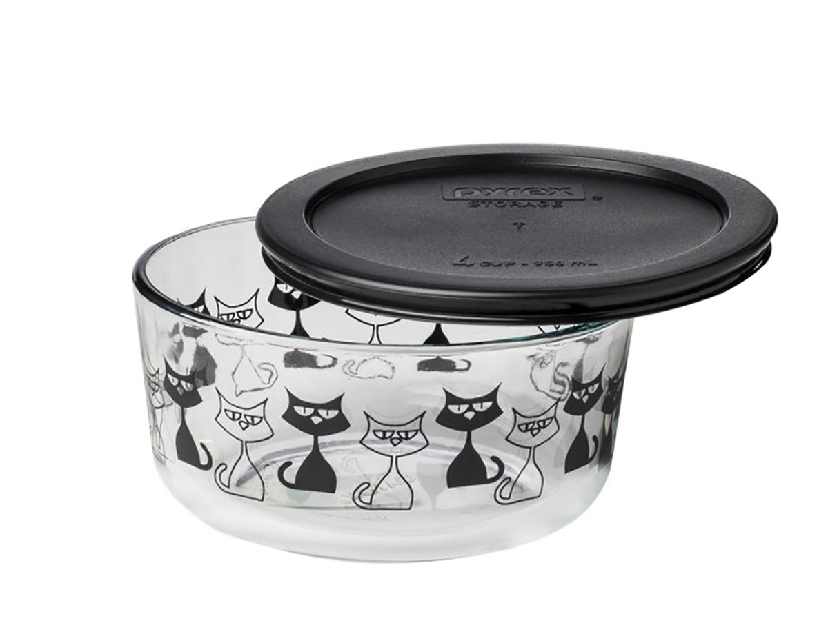 Pyrex Cat Container