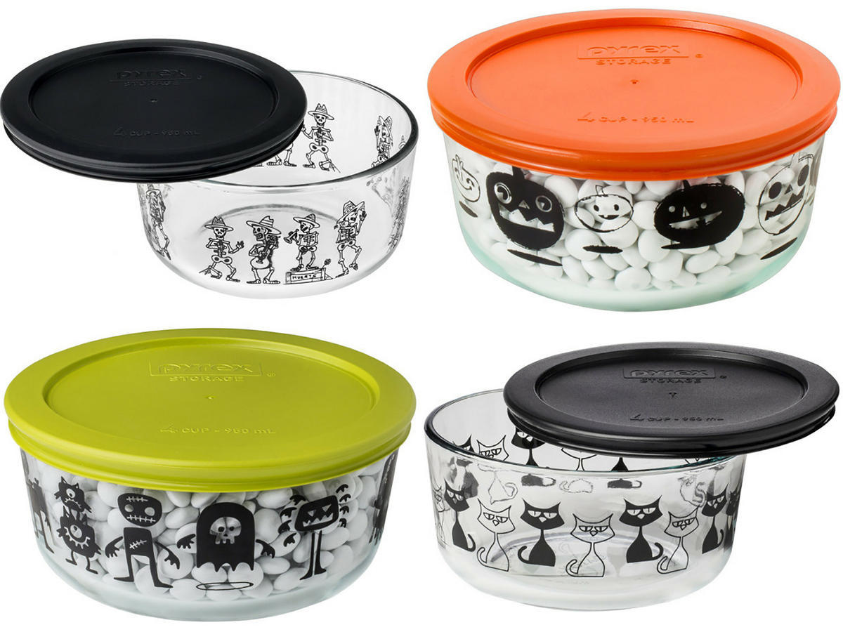 Halloween Pyrex Containers