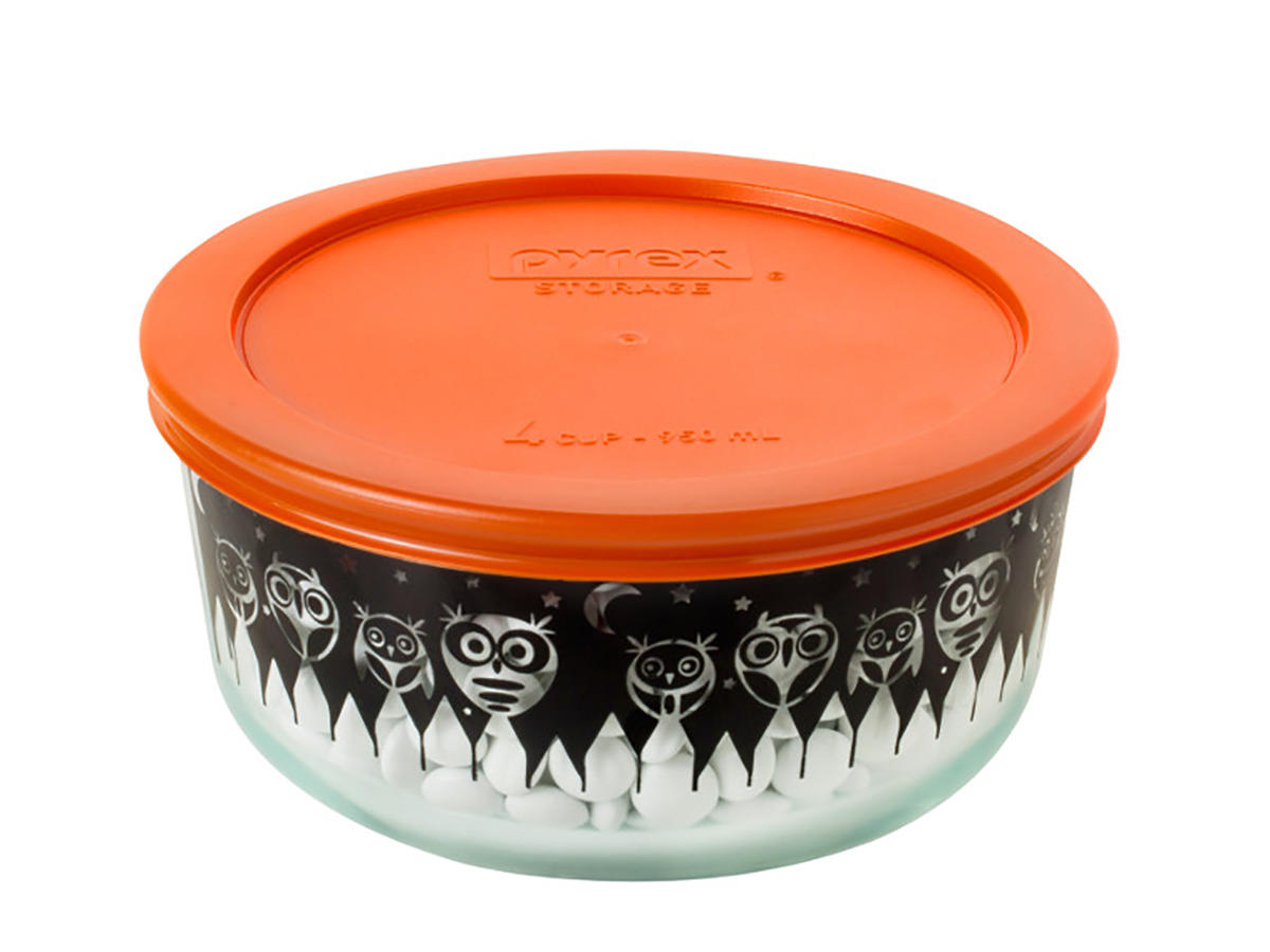 Pyrex Owl Container