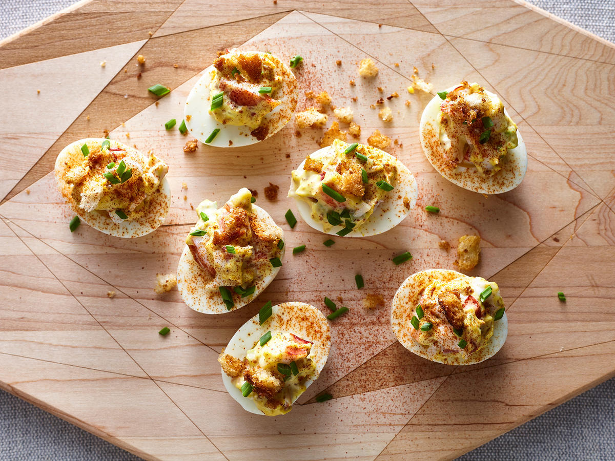 Lobster Roll Deviled Eggs