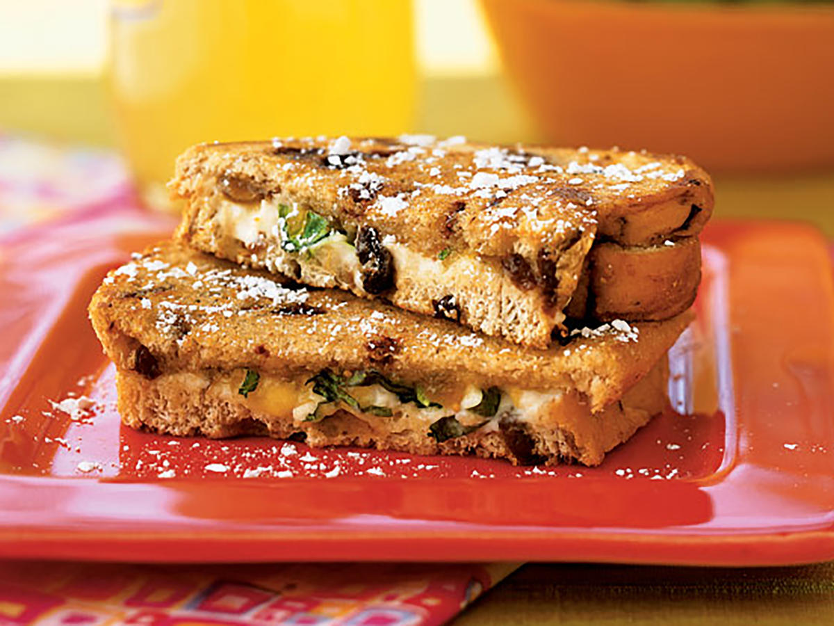 Grilled Goat Cheese Sandwiches with Fig and Honey Makeover