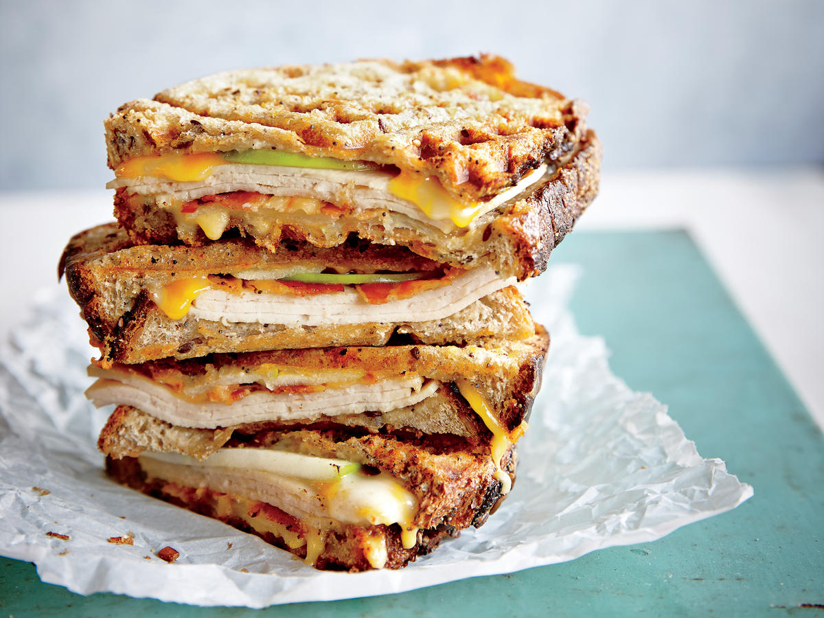 Friday: Waffle Iron Turkey Melt Panini
