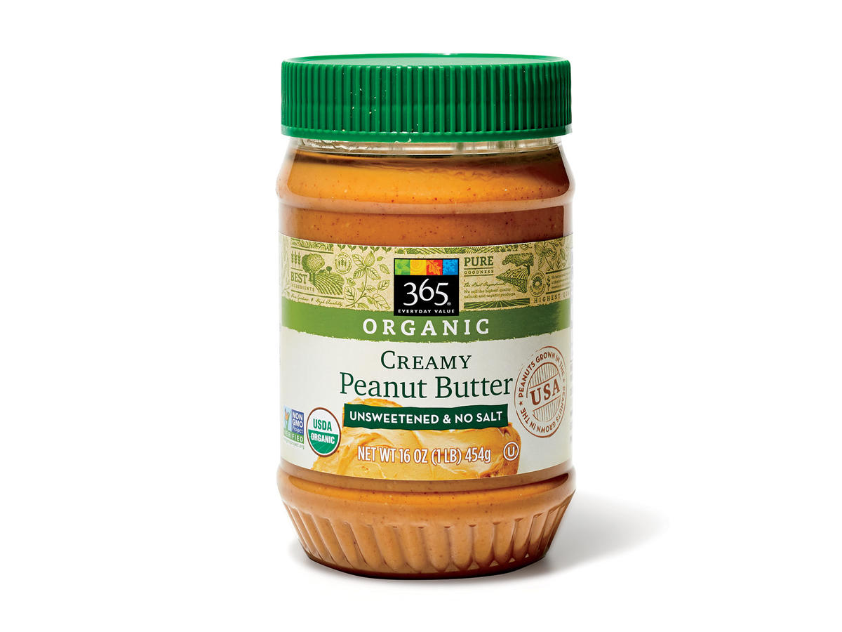 365 Everyday Value Creamy Peanut Butter (Unsweetened & No Salt)