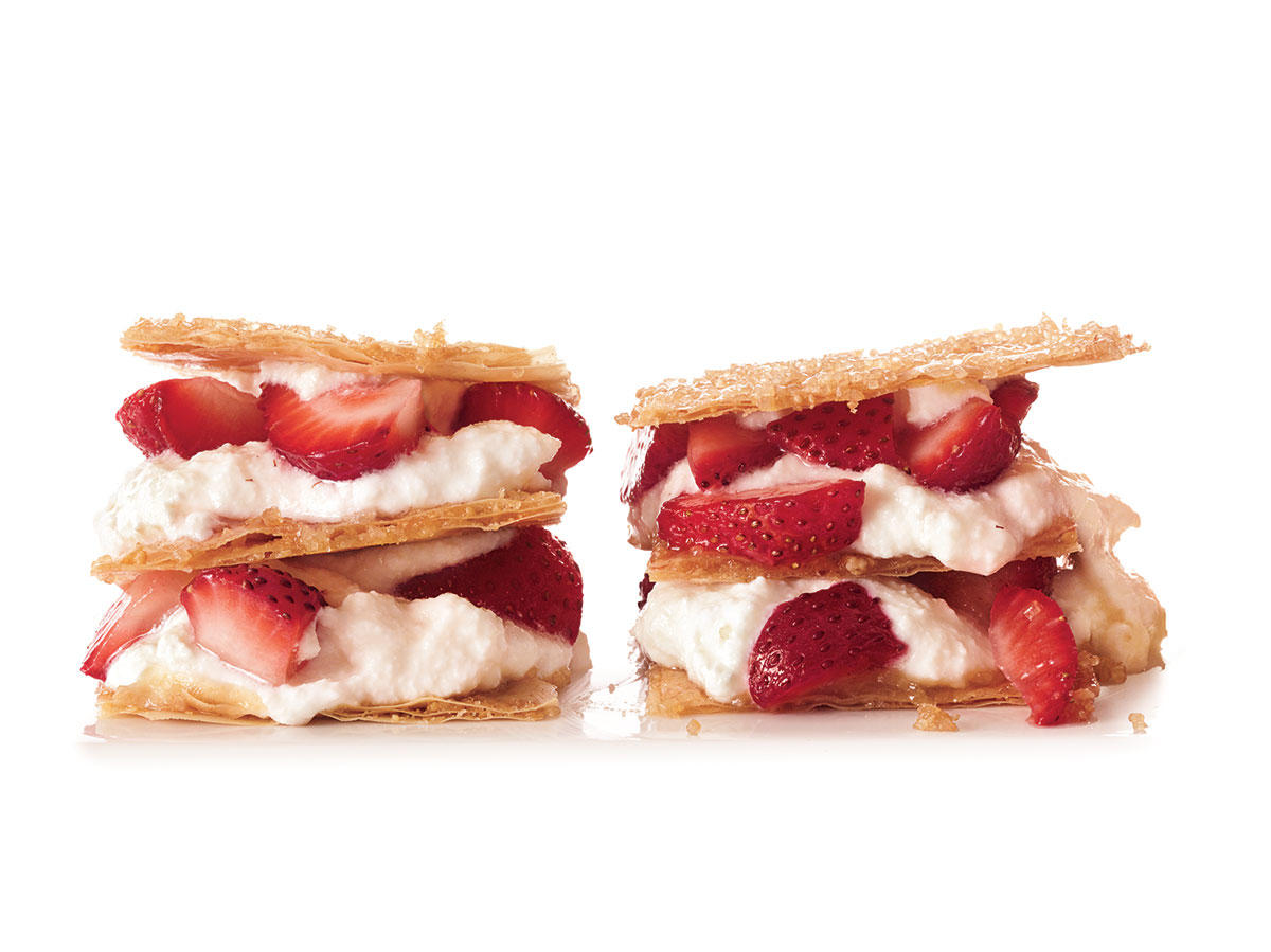 Ricotta-Strawberry Napoleons Dessert Recipes