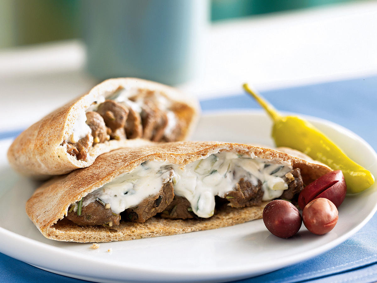Garlic-Rosemary Lamb Pita