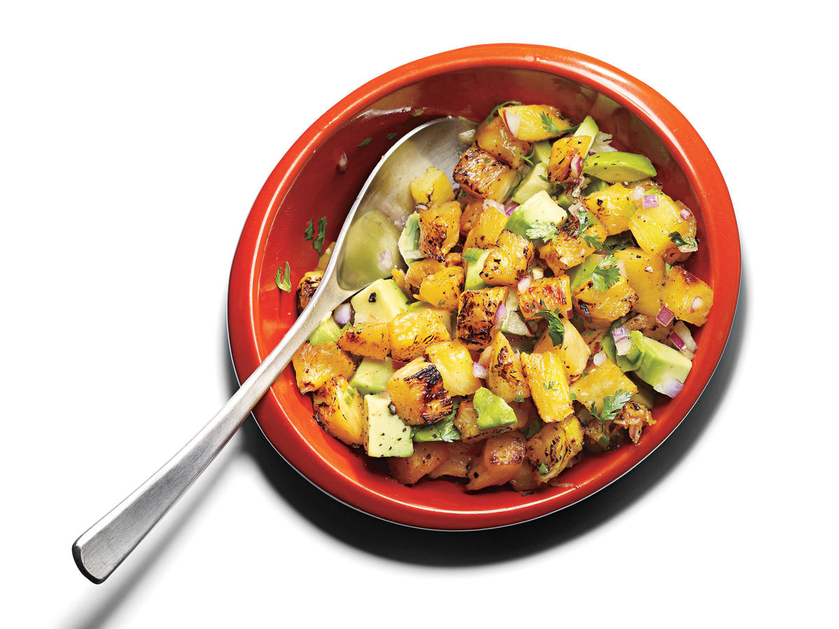 Quick and Healthy Grilled Pineapple-Avocado Salsa Recipe
