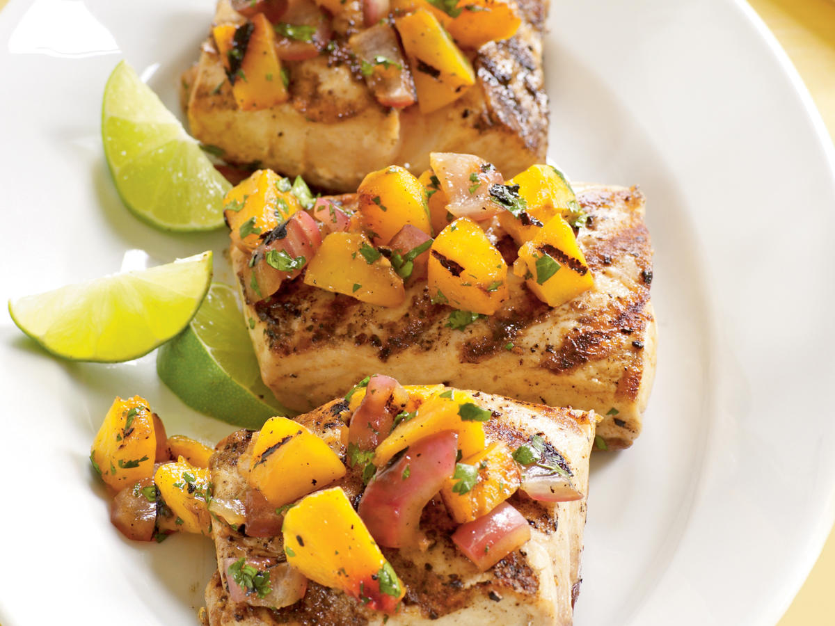 Healthy Fiery Grilled Peach and Habanero Salsa Recipes