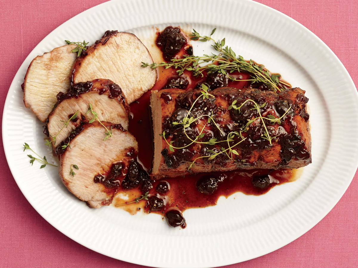 Cherry-Port Glazed Pork Loin Roast
