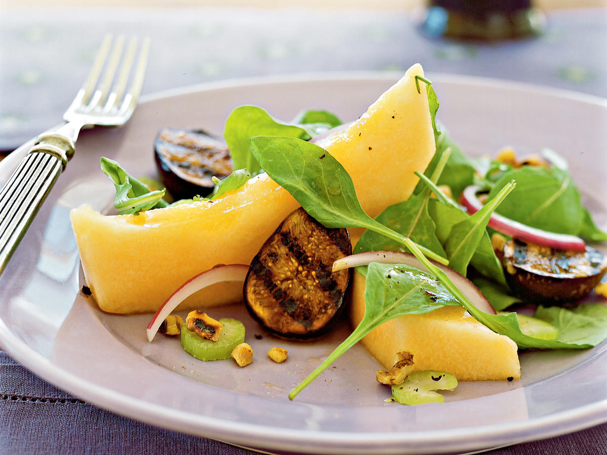 1303 Cantaloupe and Grilled Fig Salad
