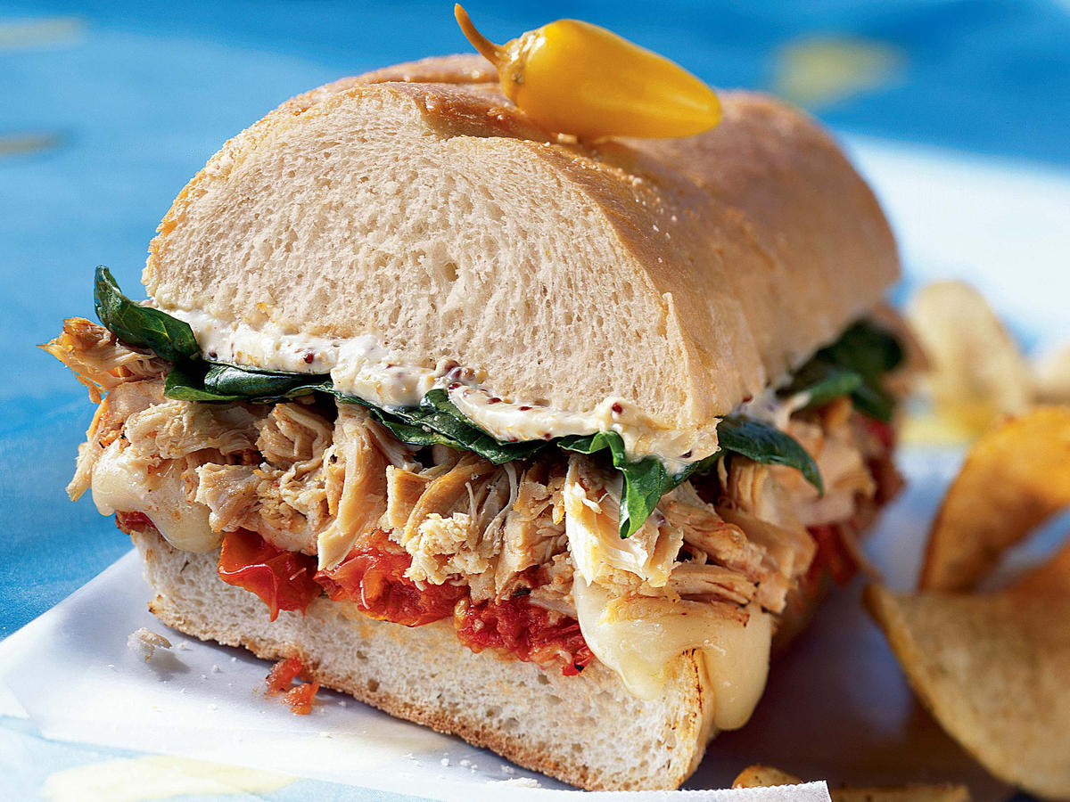 Chicken-and-Brie Sandwich With Roasted Cherry Tomatoes