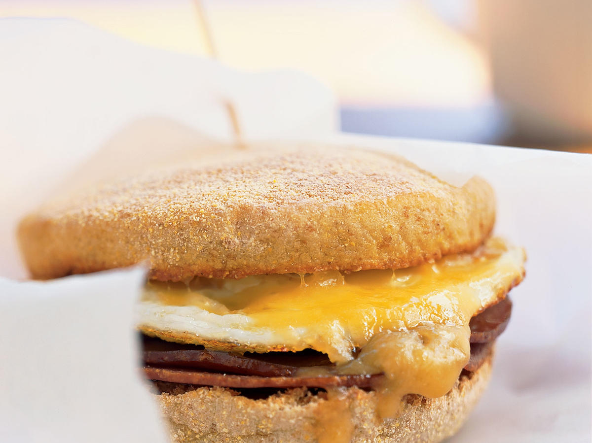 Kids' Ham and Cheese Breakfast Sandwich with Mango Chutney