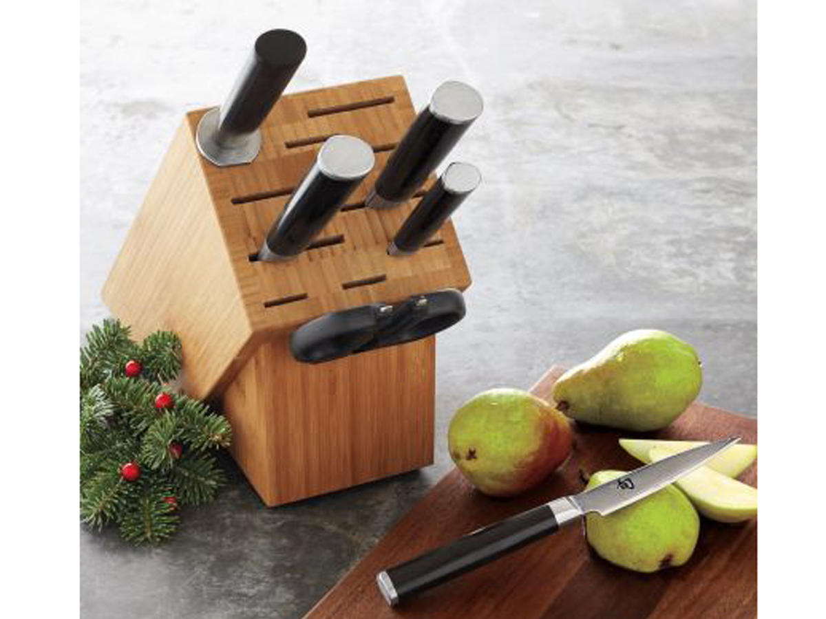 shun 7 piece knife block set
