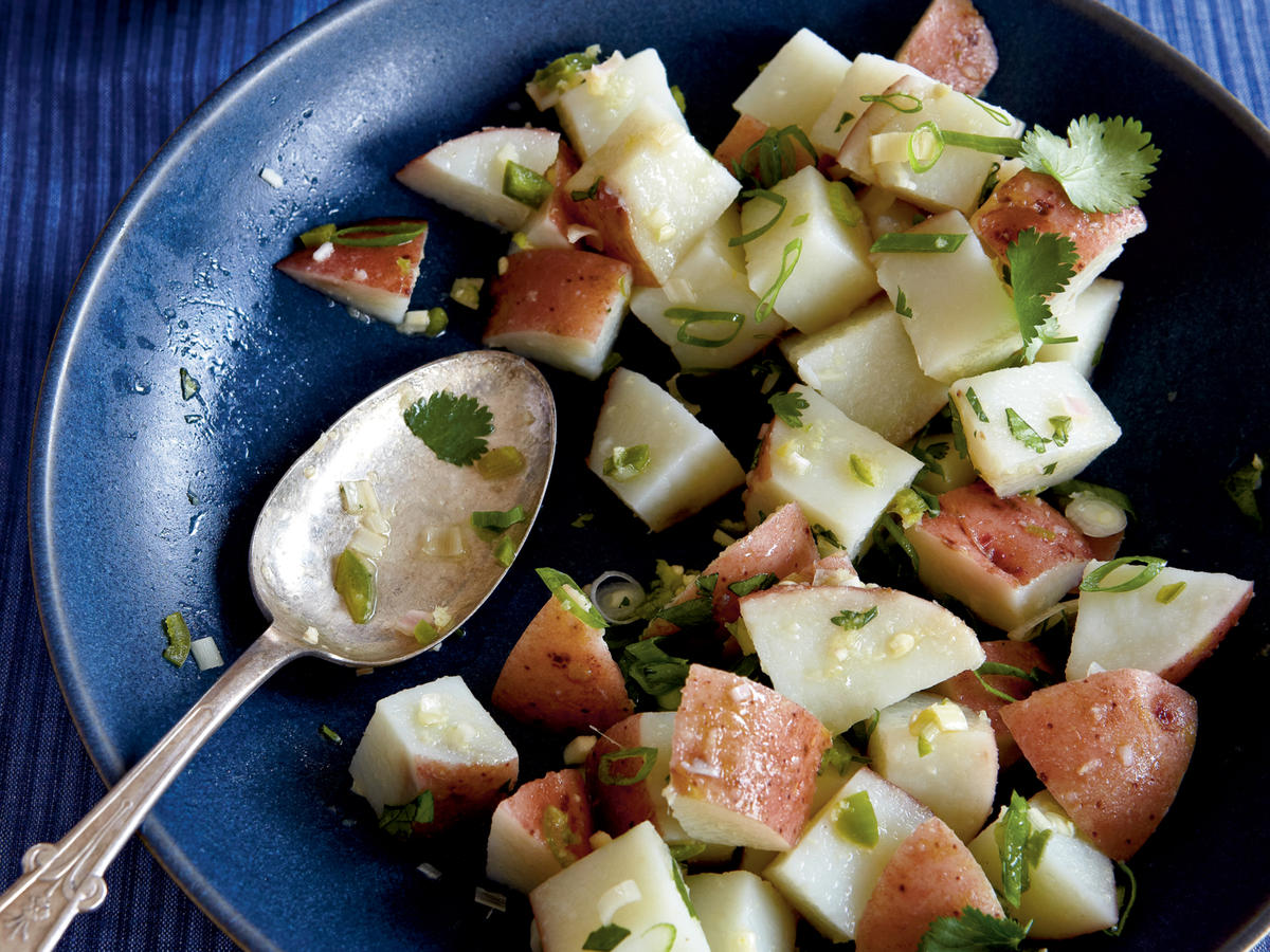 Lemongrass and Ginger Potato Salad