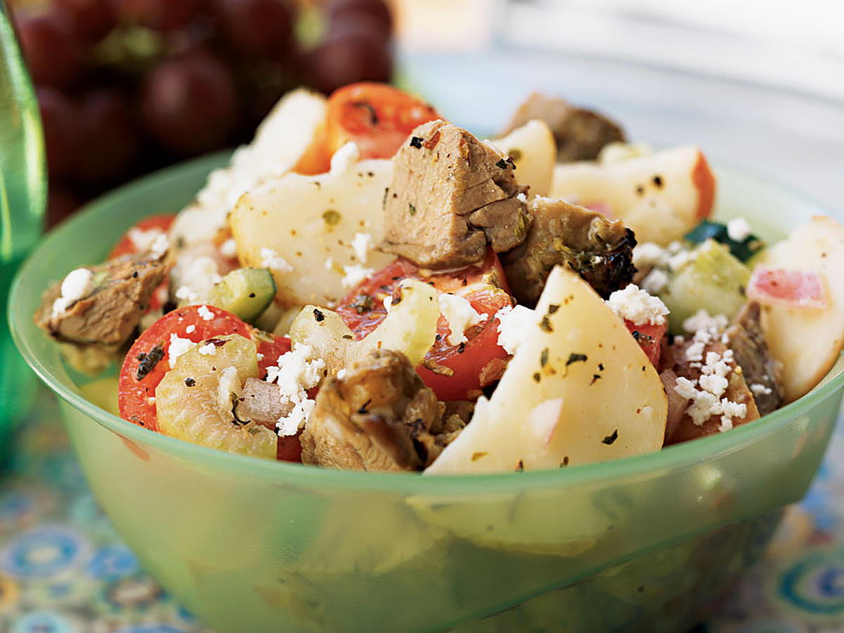Greek Lamb and Potato Salad Recipe