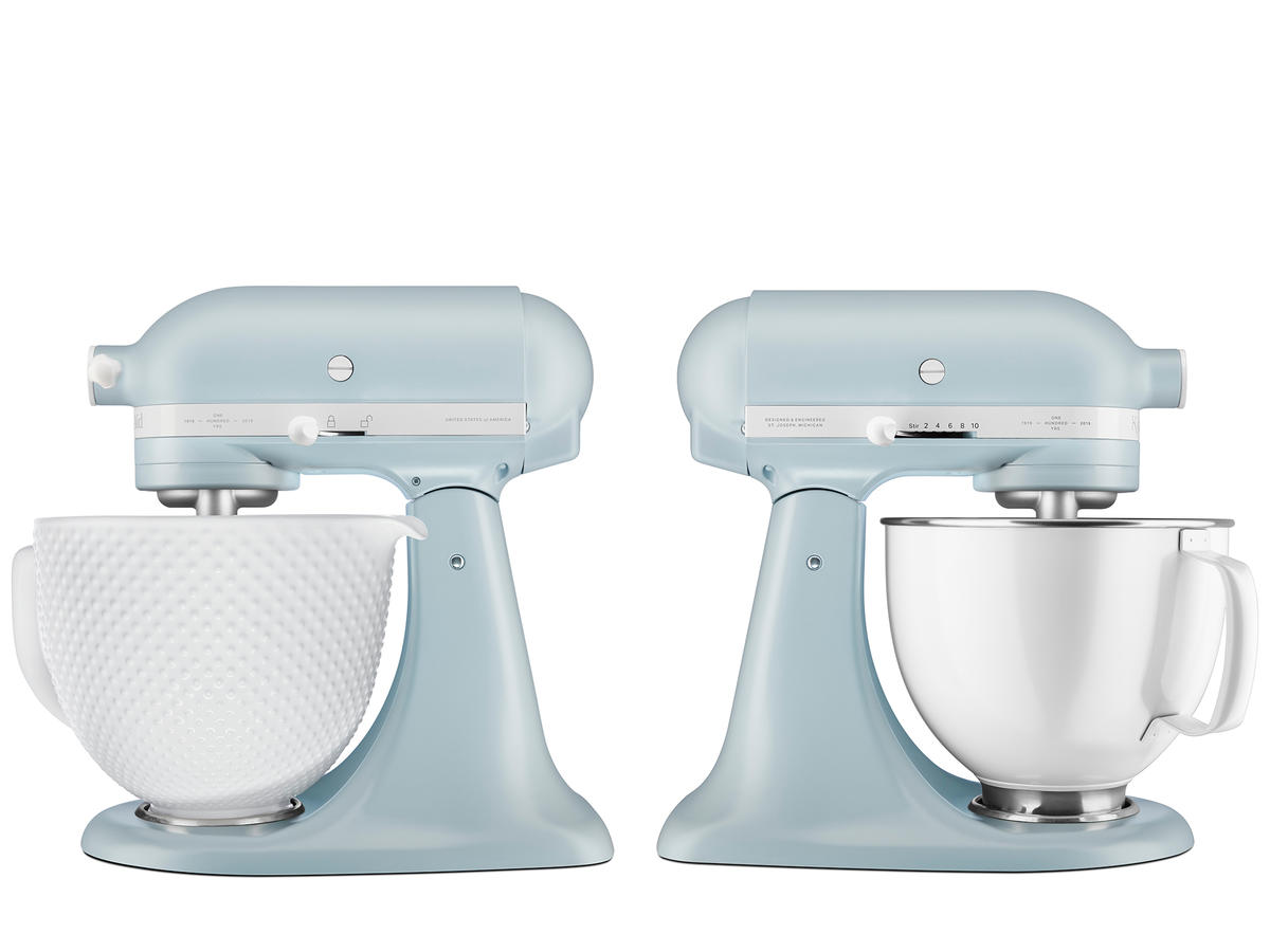 kitchenaid misty blue new color stand mixers