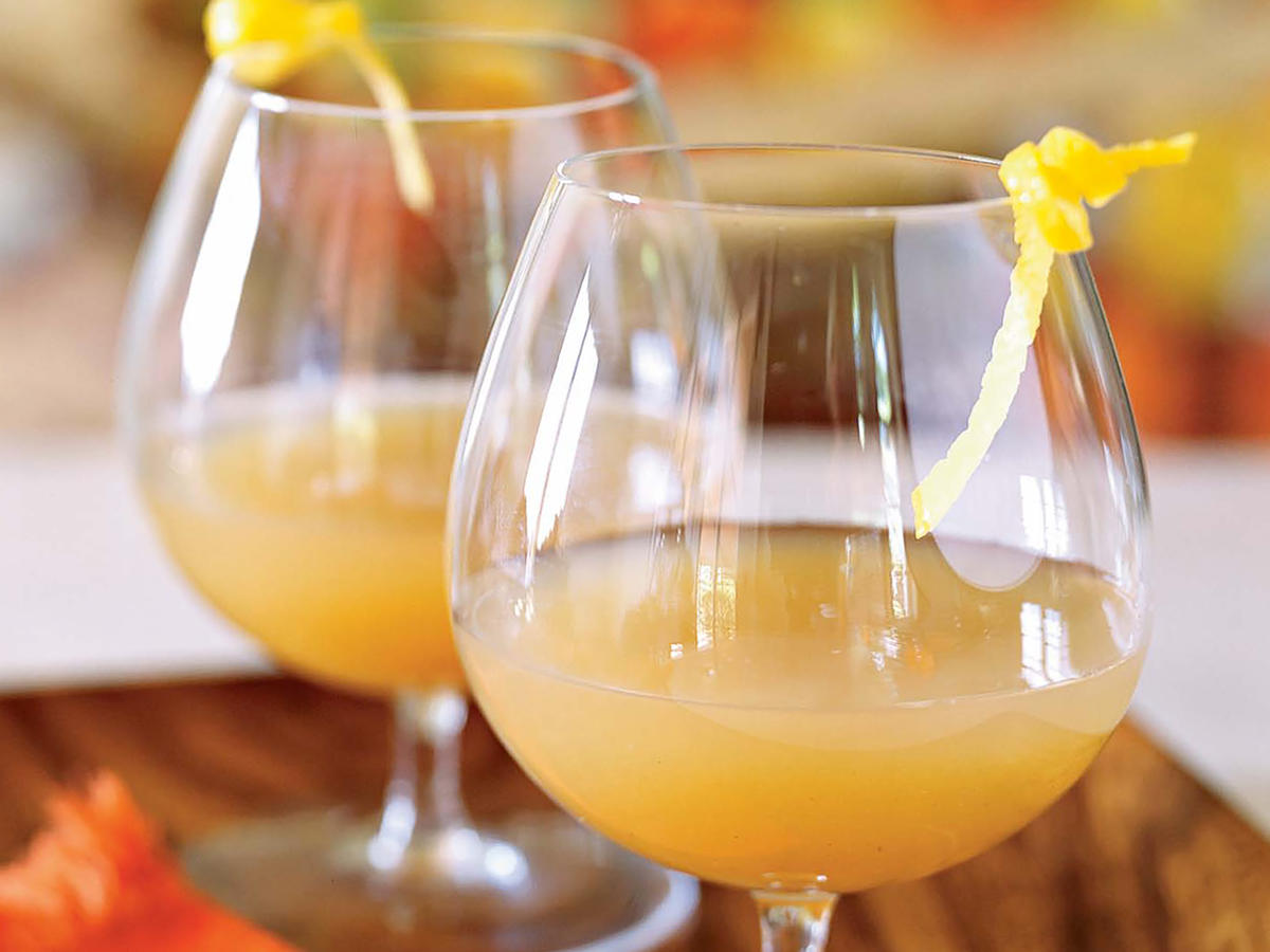 Gingered Pear and Brandy Cocktail
