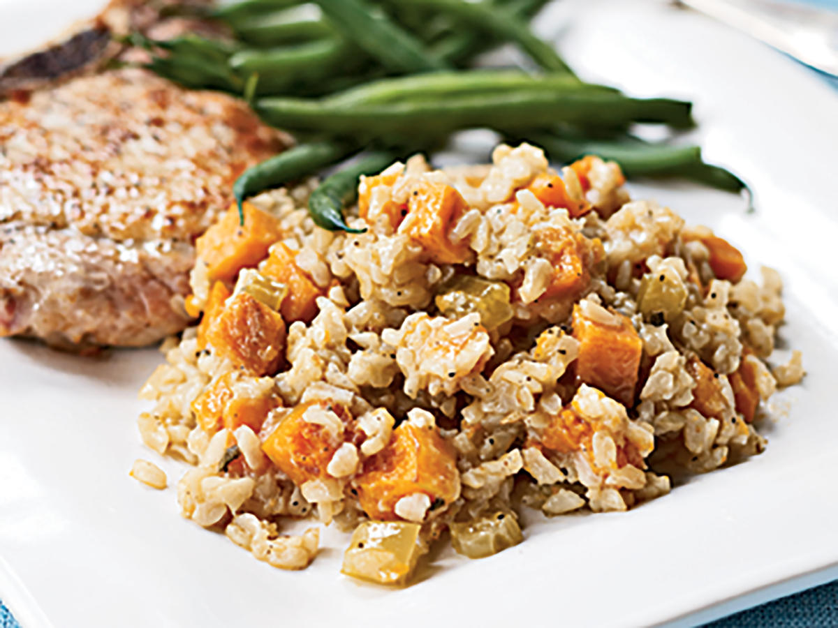 Roasted Pumpkin and Sweet Potato Pilau Recipes
