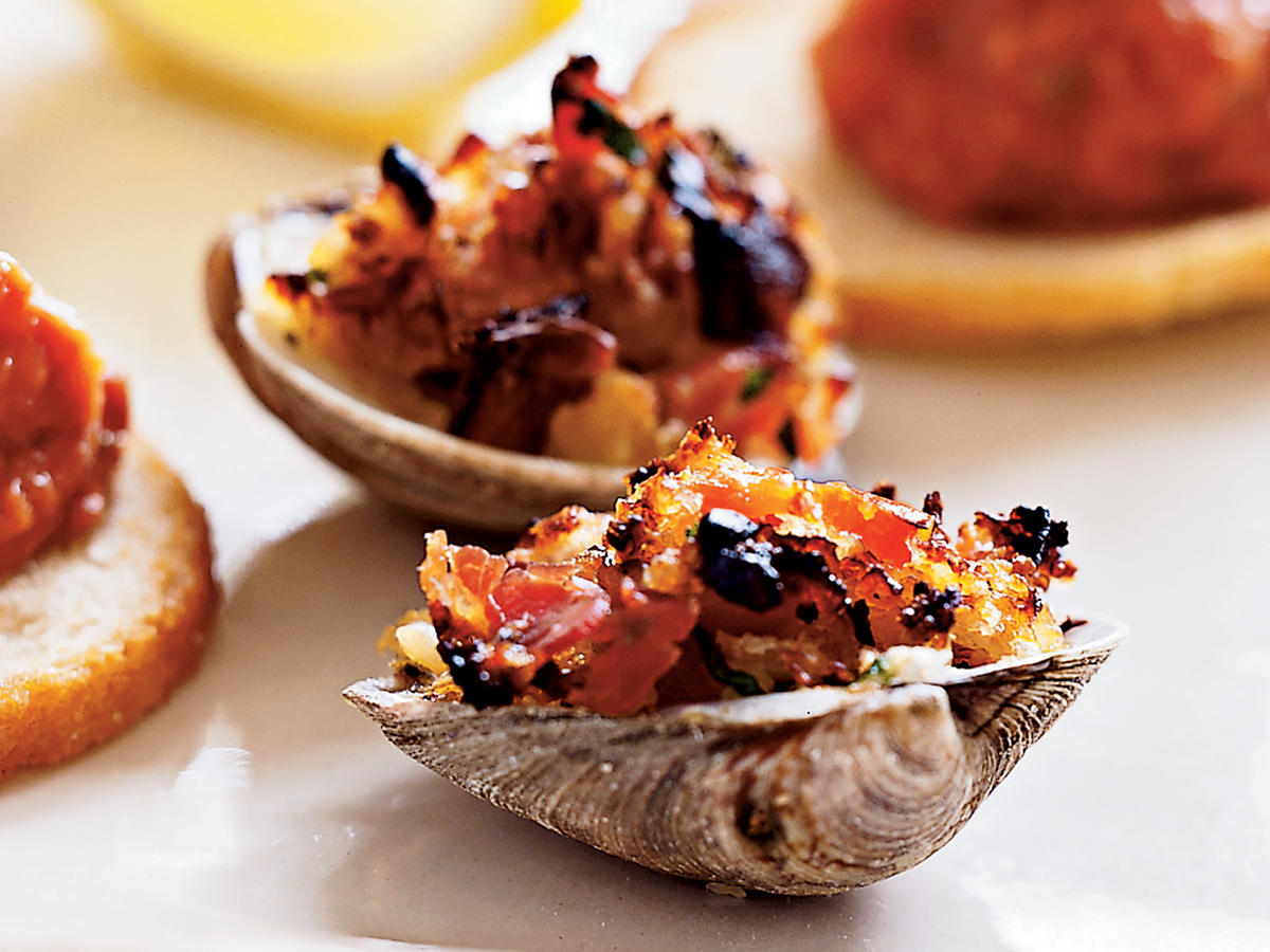 Clams Casino with Pancetta