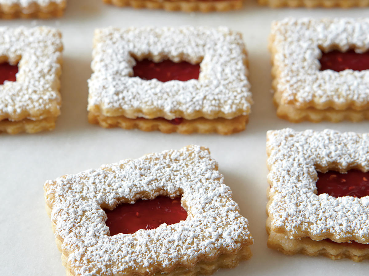 Healthy Raspberry Linzer Windowpane Cookies Recipe