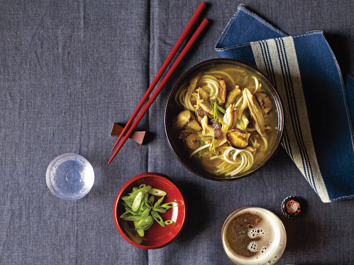Chicken-Udon Soup Recipe