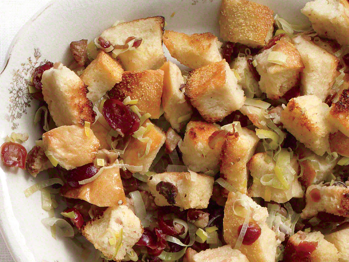 Chestnut, Cranberry & Leek Stuffing