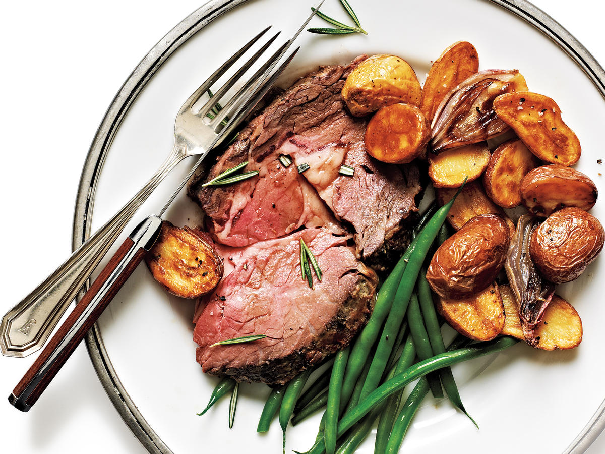 Rosemary-Dijon Crusted Standing Rib Roast Recipe
