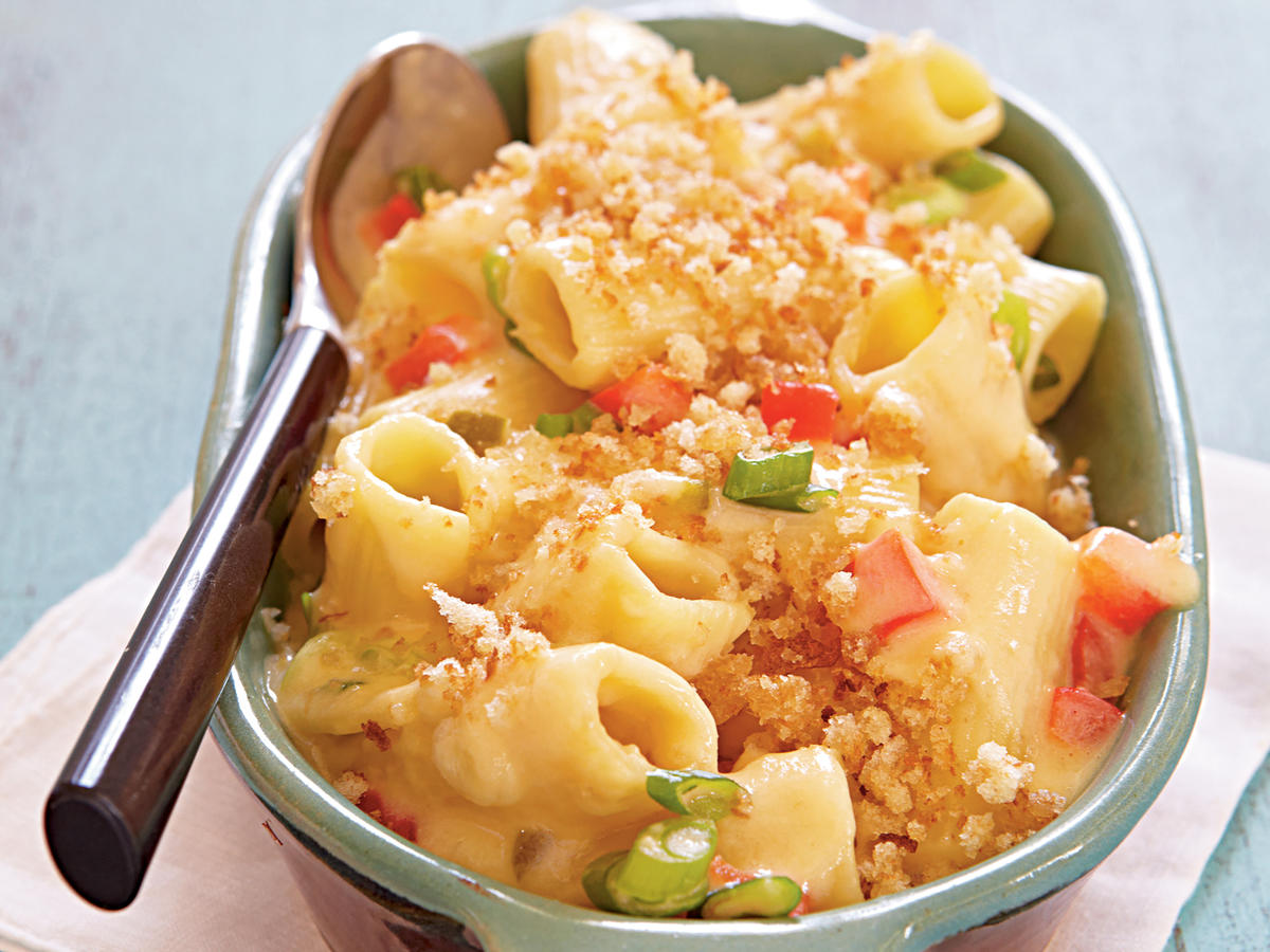 Two-Pepper Rigatoni and Cheese
