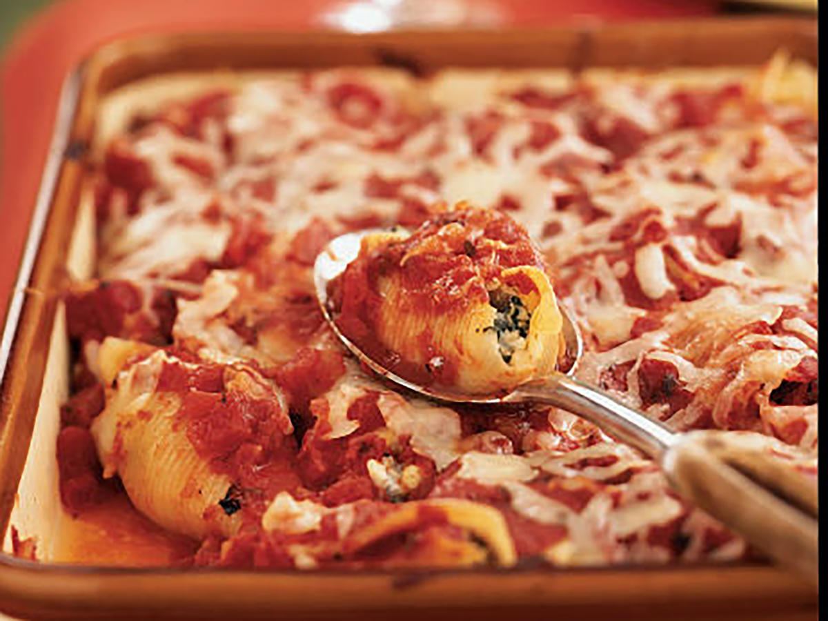 Artichoke, Spinach, and Feta Stuffed Shells Recipe