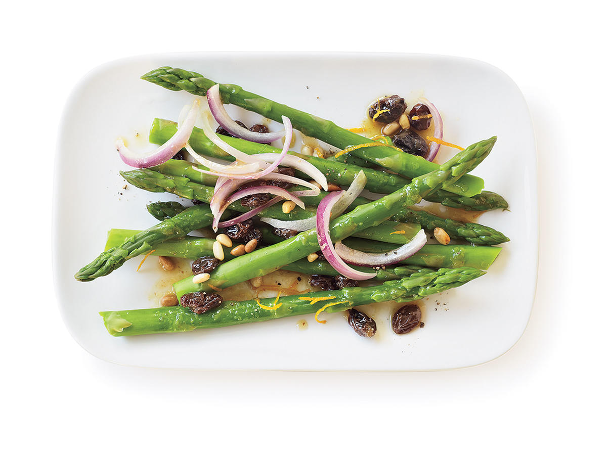 Healthy Raisin and Pine Nut Asparagus Recipe