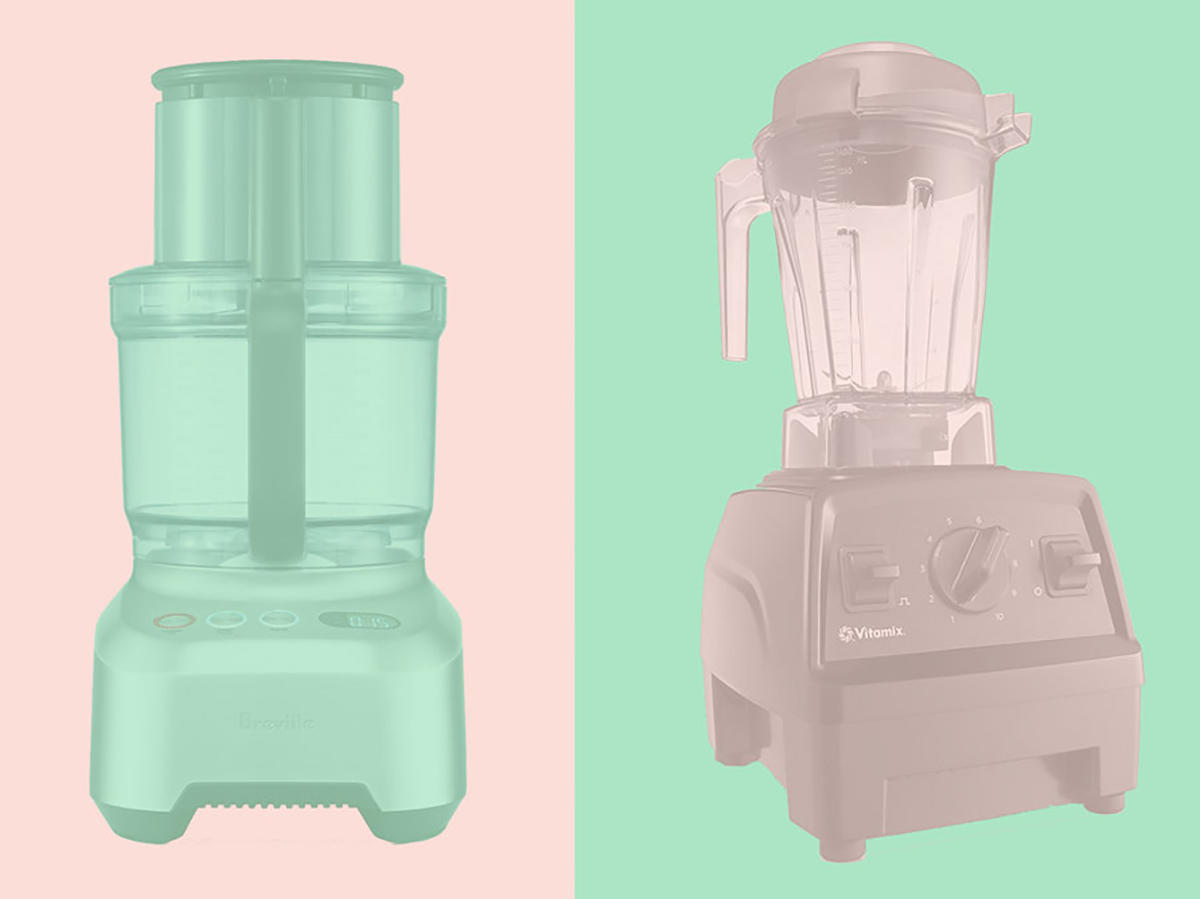 food processor and a blender