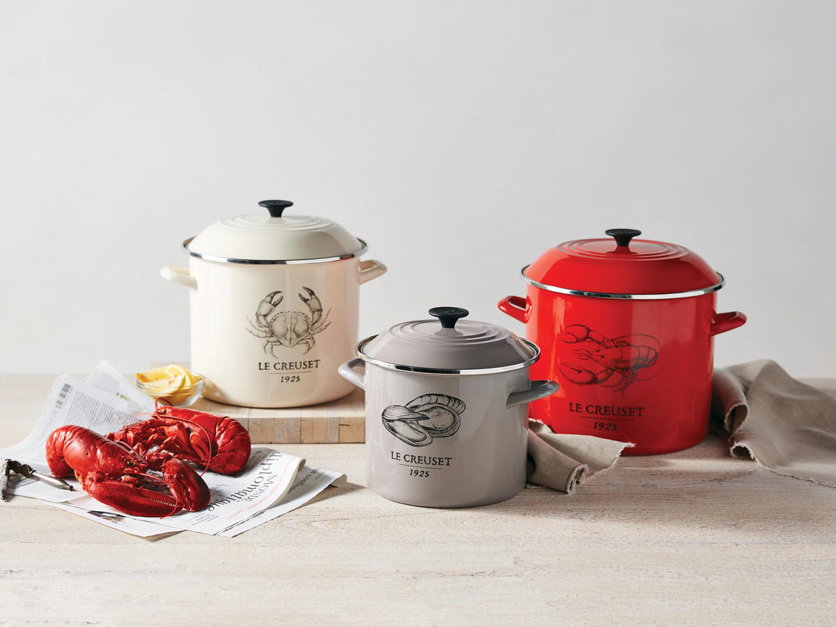 Le Creuset's Newest Stock Pot Collection is Perfect For This Summer's Seafood Boil