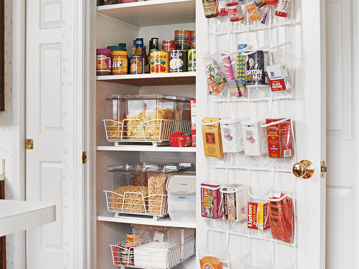 Well-used pantry door