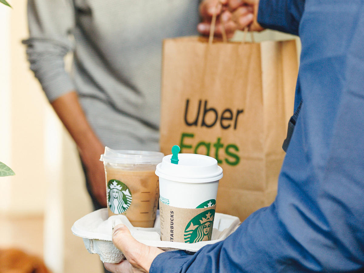 Starbucks Announces Nationwide Delivery with Uber Eats