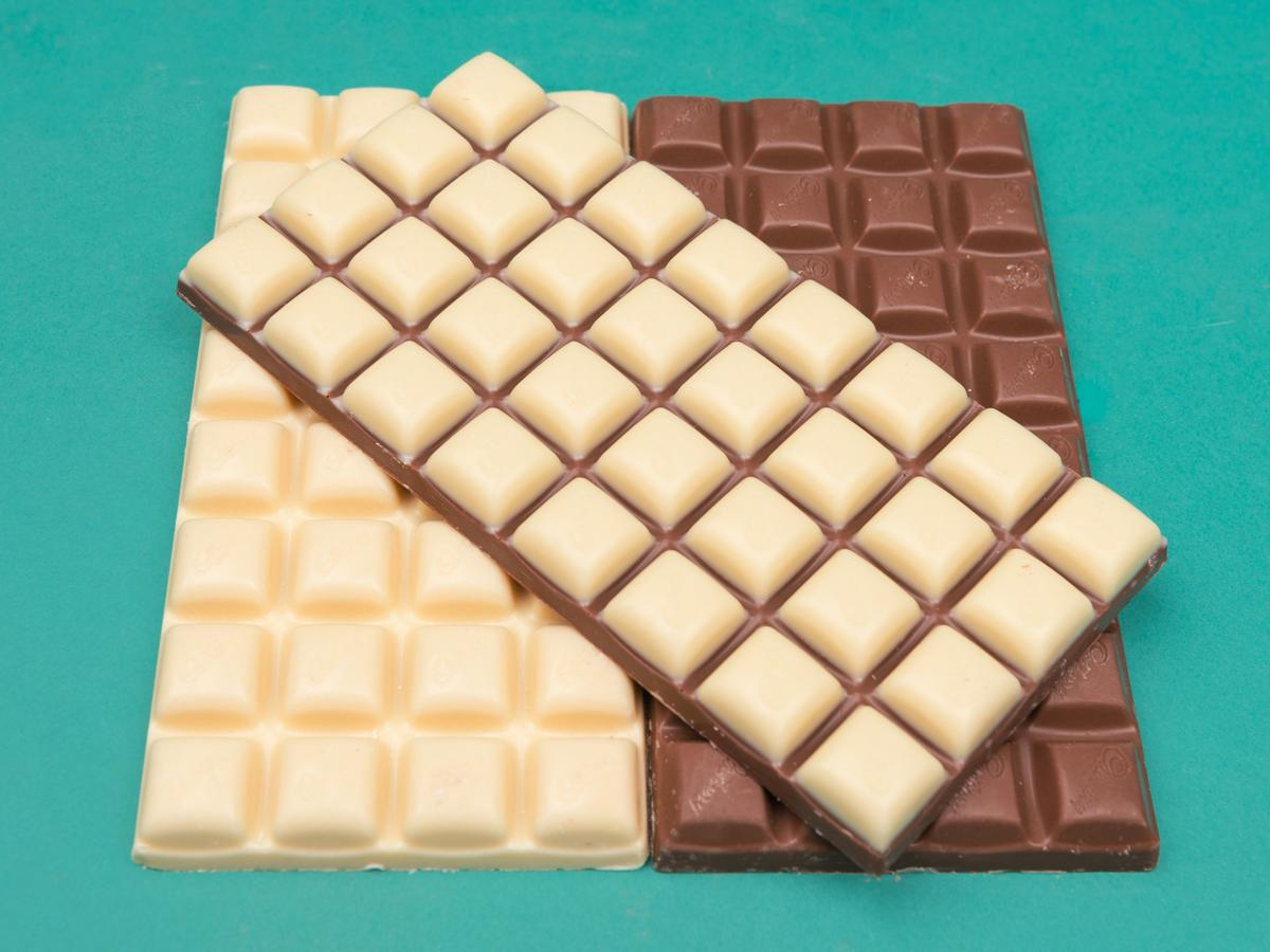 white and milk chocolate