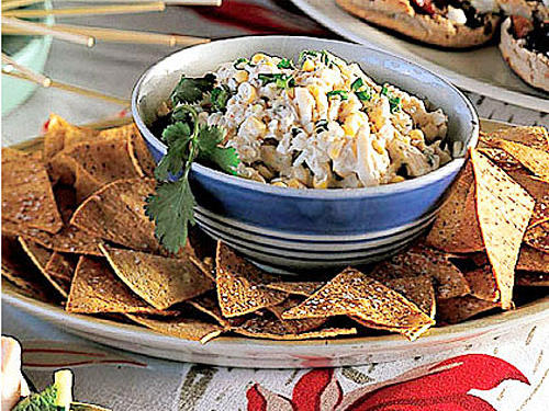 Cosmic Crab Salad with Corn Chips