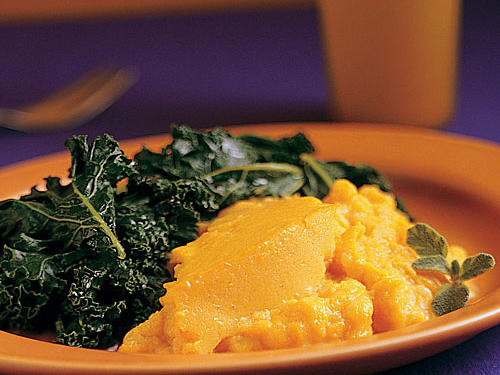 Winter's Best: Winter Squash Soufflé and Greens