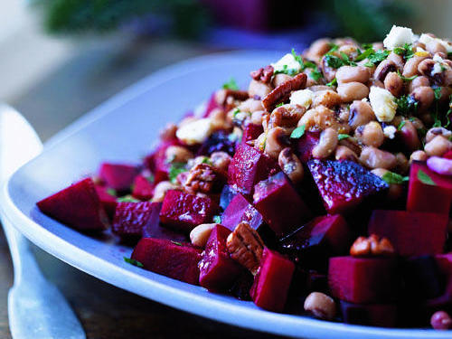 1303 Beet and Black-Eyed Pea Salad