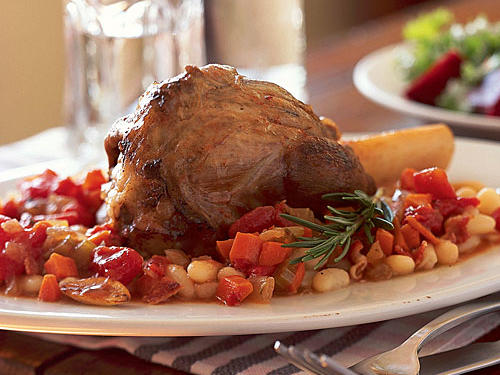 1209 Lamb Shanks on Cannellini Beans