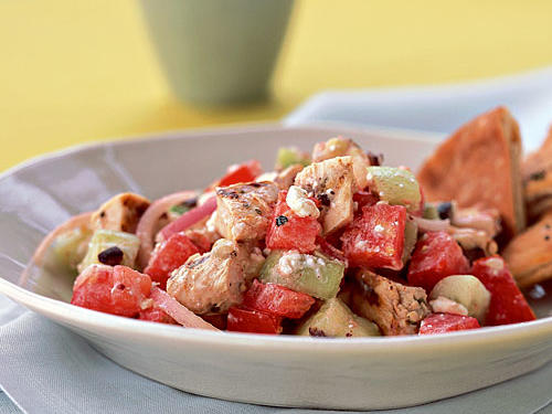 Chicken Souvlaki Salad