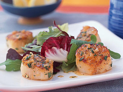 Lemon-Shallot Scallop