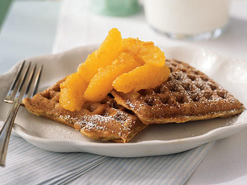 Citrus Waffles with Marmalade Compote Recipe