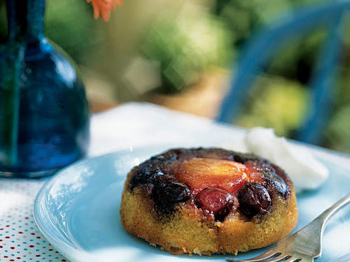 Apricot-Cherry Upside-Down Mini Cakes