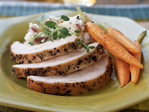 Healthy Holiday Foods: Honey and Thyme-Brined Turkey Breast Recipes